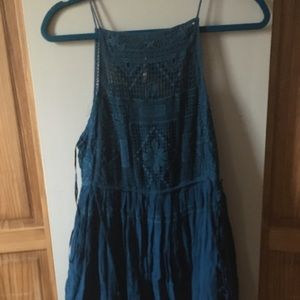 A navy blue summer dress! With floral top!